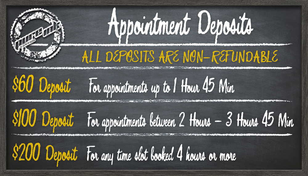 Policies, Deposit, and Age Requirement | Pure Ink Tattoo Studios