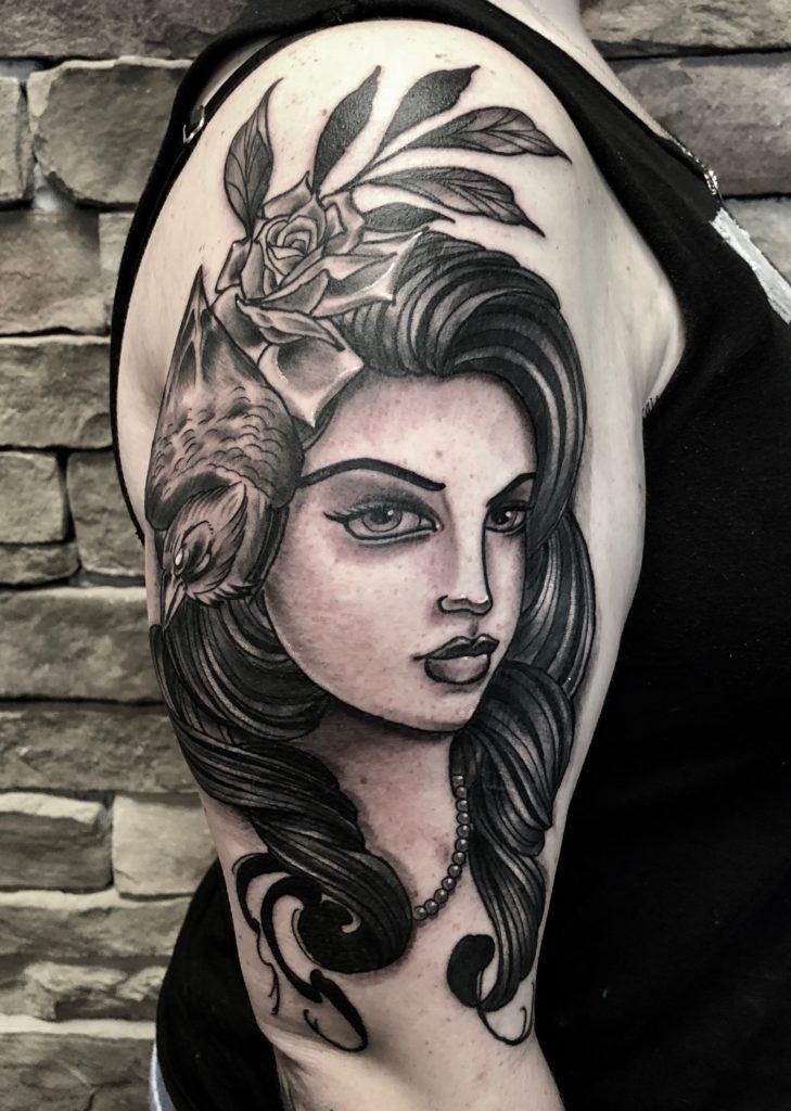 Pure Ink Tattoo - NJ - John Kosco - Raven Girl Tattoo