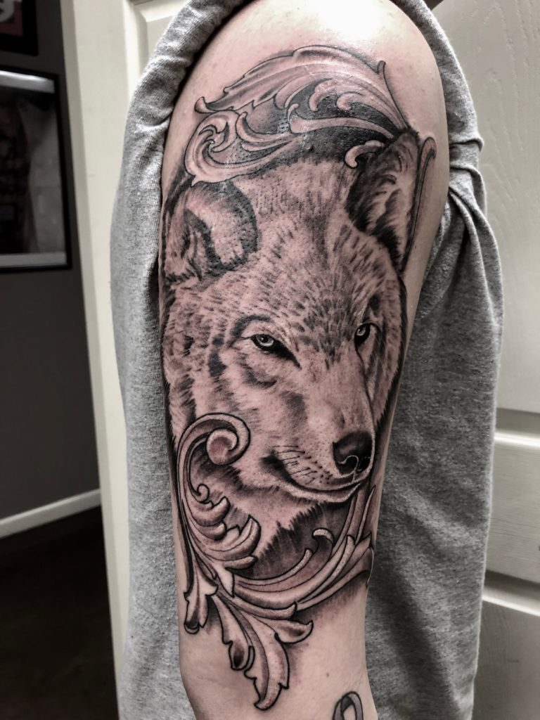 Pure Ink Tattoo - NJ - John Kosco - Wolf Tattoo
