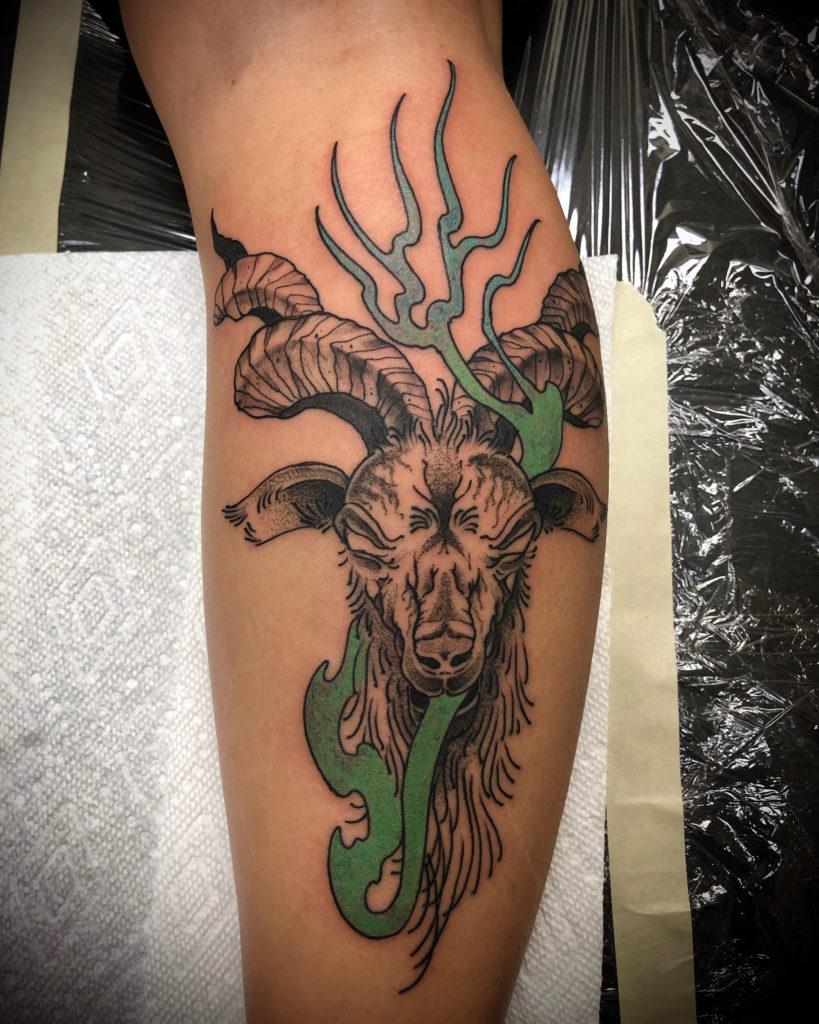Pure Ink Tattoo - NJ - John Kosco - Goat Tattoo