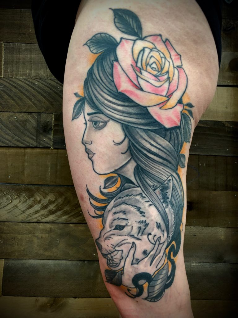 Pure Ink Tattoo - NJ - John Kosco - Wolf Girl Tattoo