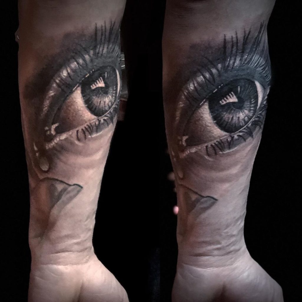 Pure Ink Tattoo - NJ - Ian Shafer - Black Grey Realistic Eye Tattoo