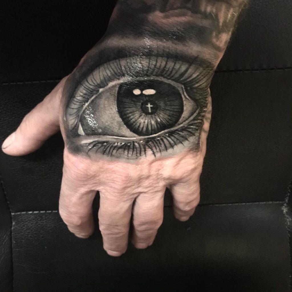 Pure Ink Tattoo - NJ - Ian Shafer - Black Grey Eye Tattoo