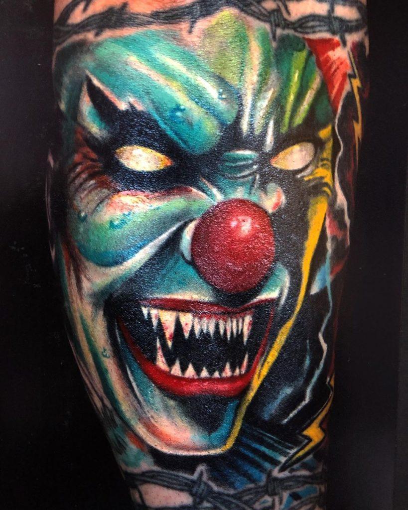 Pure Ink Tattoo - NJ - Ian Shafer - Clown Tattoo
