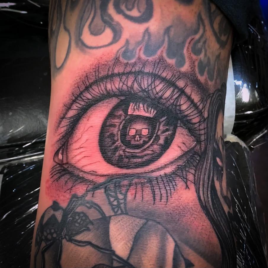 Pure Ink Tattoo - NJ - Tito Rodriguez - Eye Tattoo