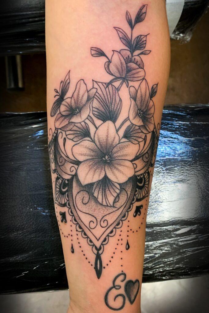 Pure Ink Tattoo - NJ - Tito Rodriguez - Flowers Tattoo