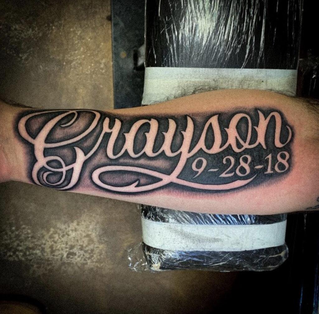 Pure Ink Tattoo - NJ - Tito Rodriguez - Lettering Tattoo