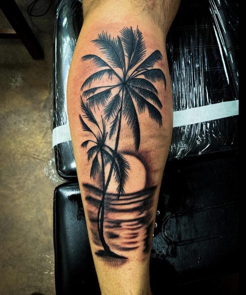 Pure Ink Tattoo - NJ - Tito Rodriguez - Palm Trees Tattoo