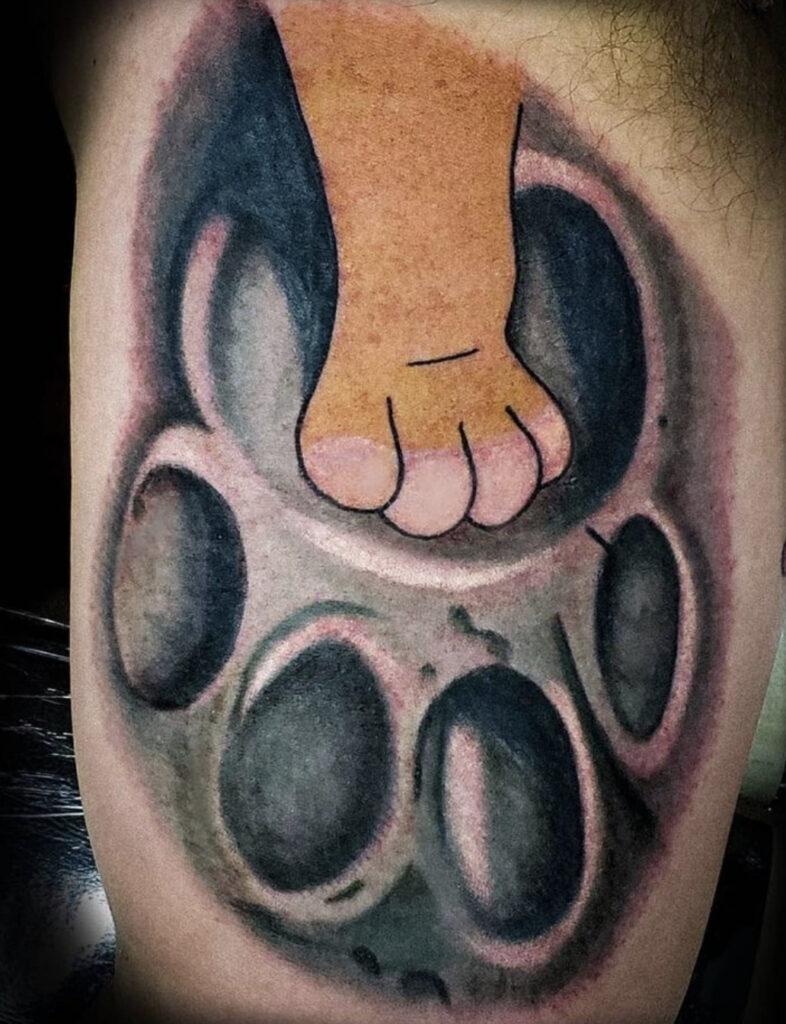 Pure Ink Tattoo - NJ - Tito Rodriguez - Lion King Paw Tattoo