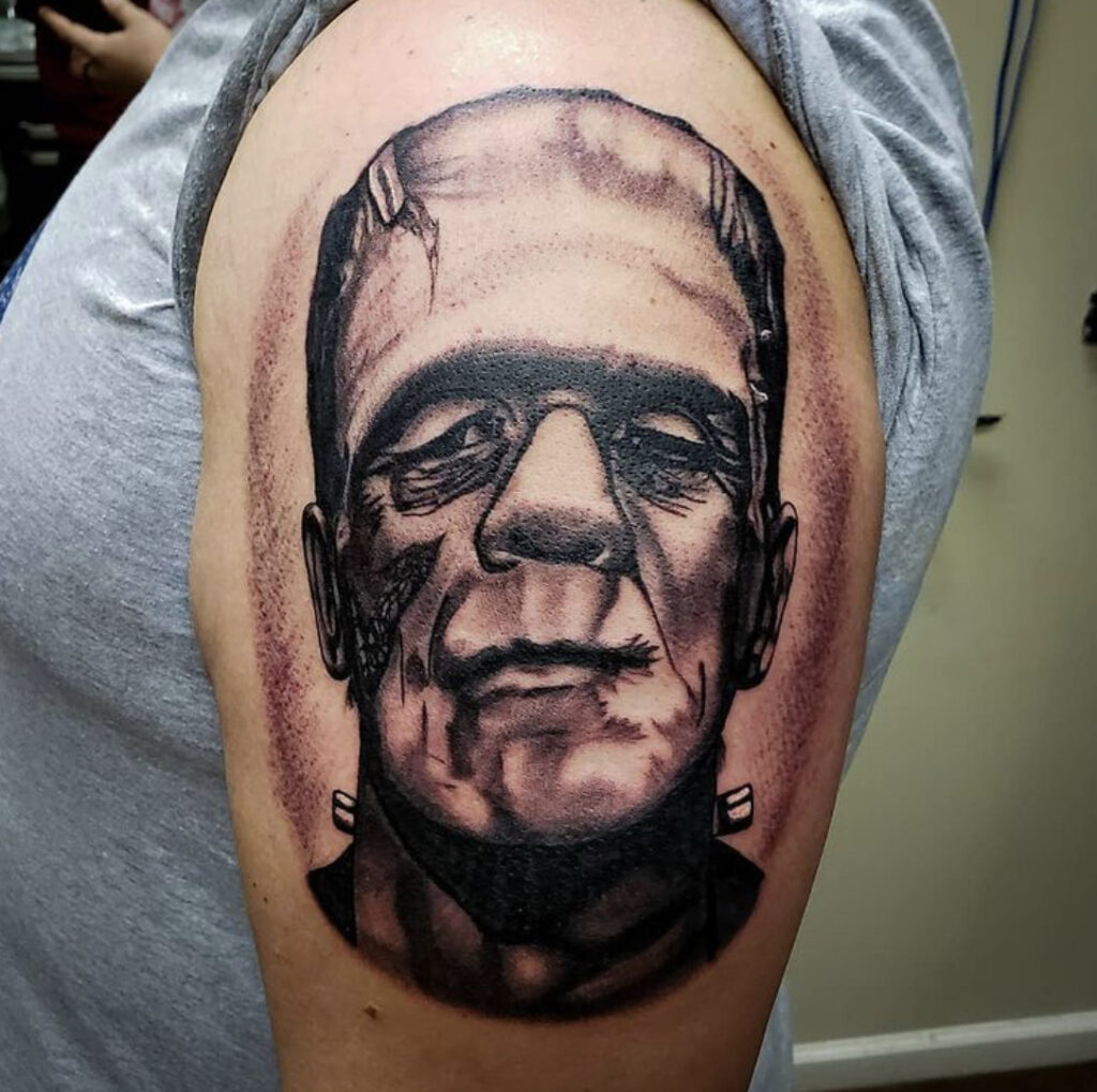 Pure Ink Tattoo - NJ - Tito Rodriguez - Frankenstein Tattoo