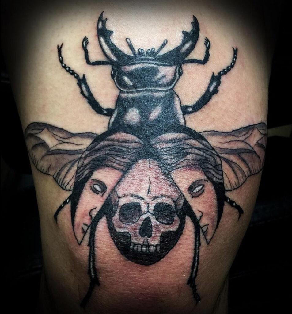 Pure Ink Tattoo - NJ - Tito Rodriguez - Beetle Tattoo